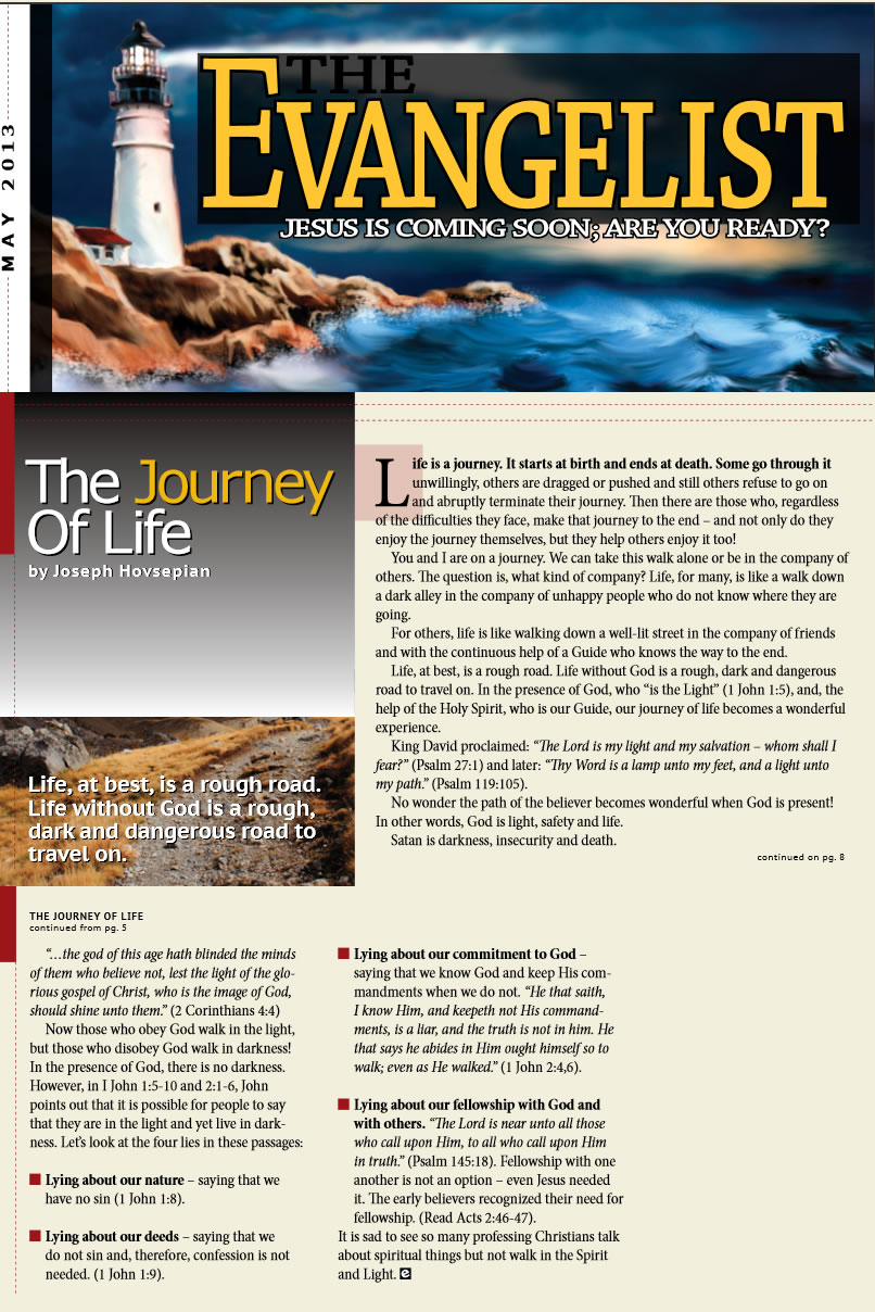 The Journey of Life - May 2013