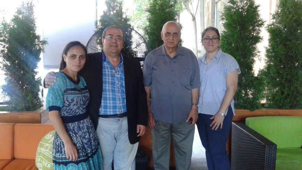 (left to right) Mariam Grigorian, Sanadroug Bedros Hajian, Pastor Joseph Hovsepian, Ann-Margret Hovsepian