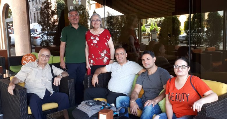 Thursday's visitation team (from left to right): Pastor Joseph Hovsepian, Samuel, Hasmig Jessie Hovsepian, Arayik Sardaryian, Hakob Ean, Emmy, and Ann-Margret Hovsepian (taking the photo).
