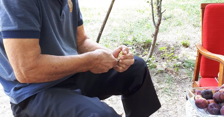 While Kevork carved into the heart of these fresh walnuts from his garden, Pastor Joseph got to the heart of spiritual matters.